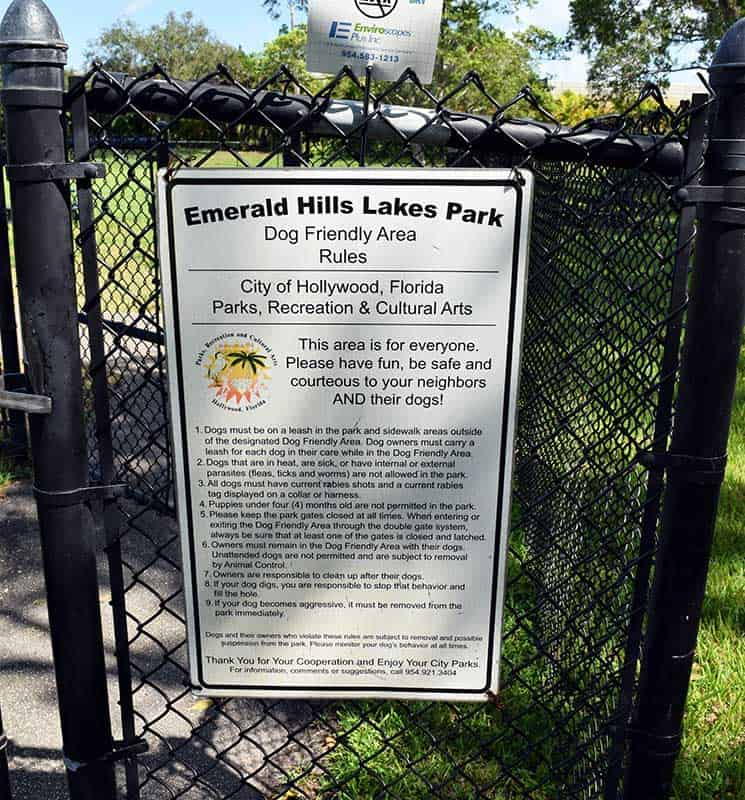Emerald Hills Lakes Dog Friendly Park Rules