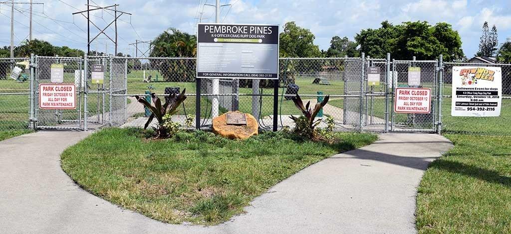Pembroke Pines Dog Park Entrance