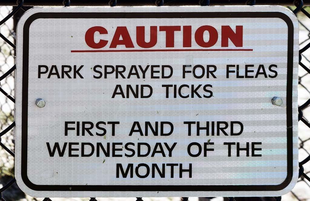 Canine Corner at Dreher Park Warning