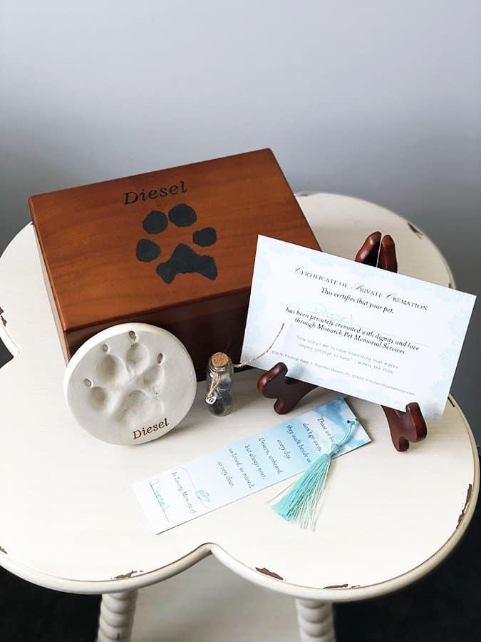 monarch memorial package